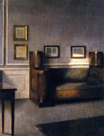 The old cabinet sofa - Vilhelm Hammershoi