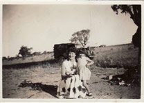 With my mother, near Wilcannia