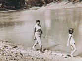 Walking with my Aunt Sheila beside the Darling River sometime in the late fifties